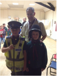 Cubs dressed as police officers